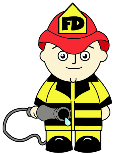 400x534 How To Draw A Cartoon Fireman In Easy Steps Drawing Tutorial