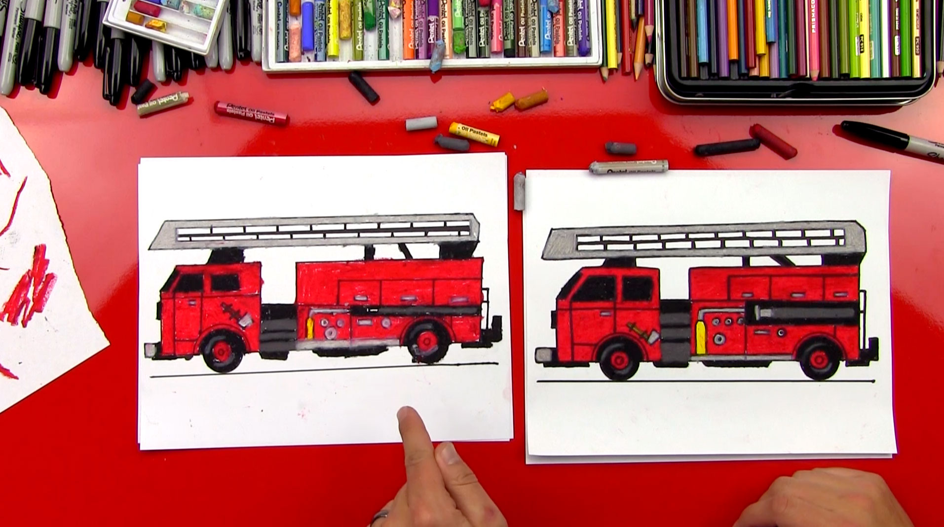 1913x1069 How To Draw A Fire Truck