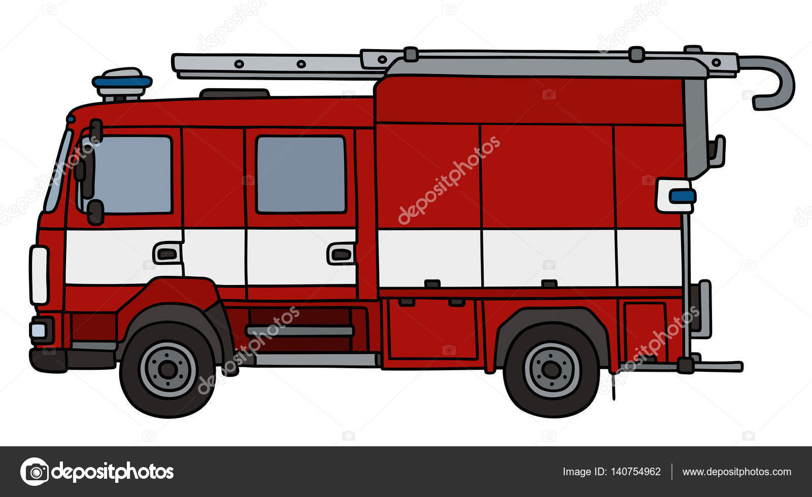 1600x980 Red Fire Truck Stock Vector 2v