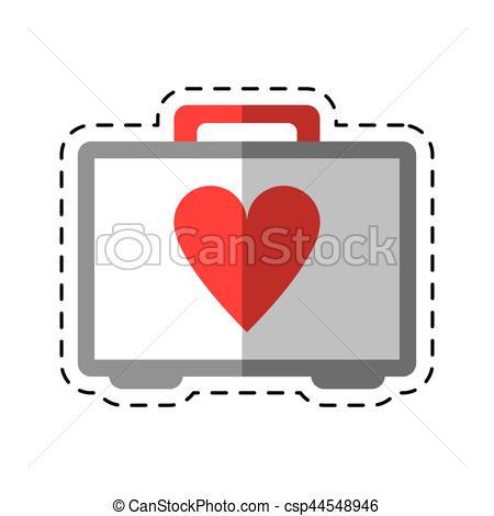 450x470 Cartoon First Aid Kit Emergency Heart Care Vector Eps Vector