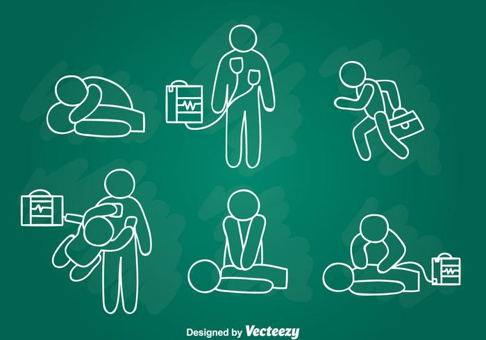 700x490 Emergency First Aid Hand Draw Vector