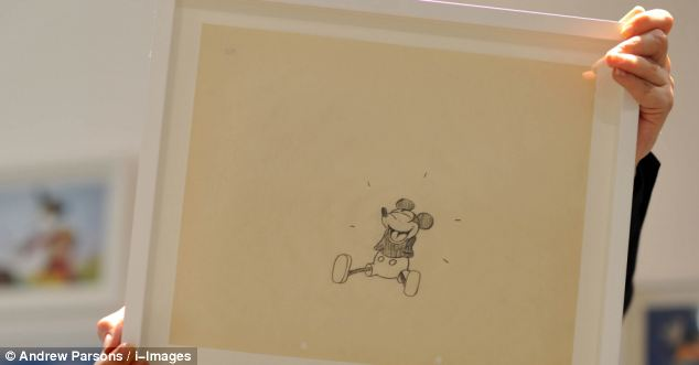 634x331 Rare 1928 Original Drawing Of Mickey Mouse Goes On Display