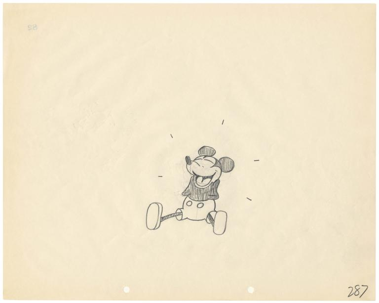 768x613 Rare Mickey Mouse Sketch On Display
