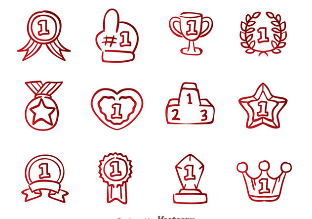 632x443 First Place Badge Hand Draw Icons Free Vector Download 326655