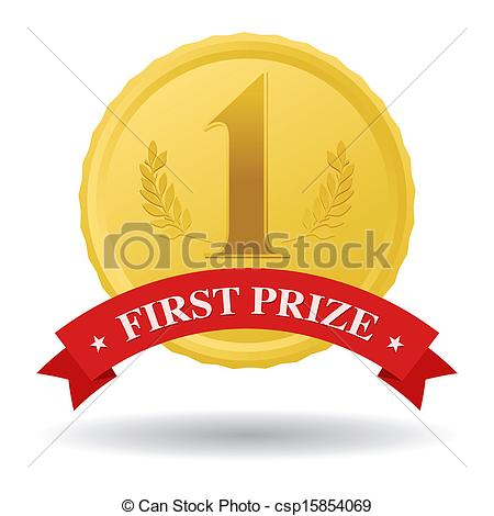 450x470 First Prize First Prize Gold Medal And Red Banner Clip Art