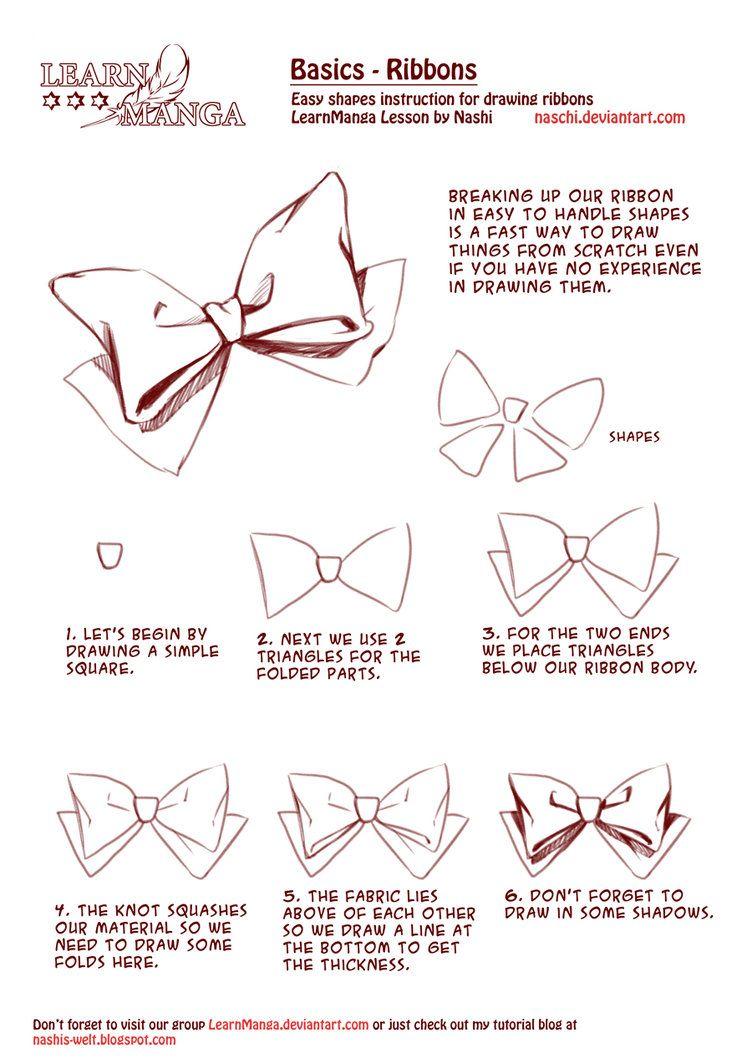 752x1063 Learn Manga Basics Ribbons By Naschi On Drawing