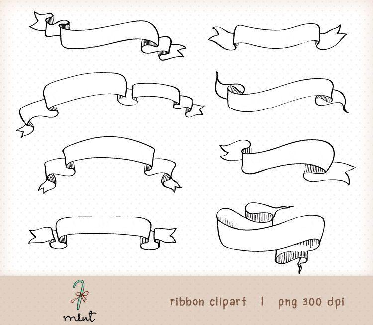 750x653 Vintage Digital Banner Ribbon Kit 2 Digital Clipart For Digital