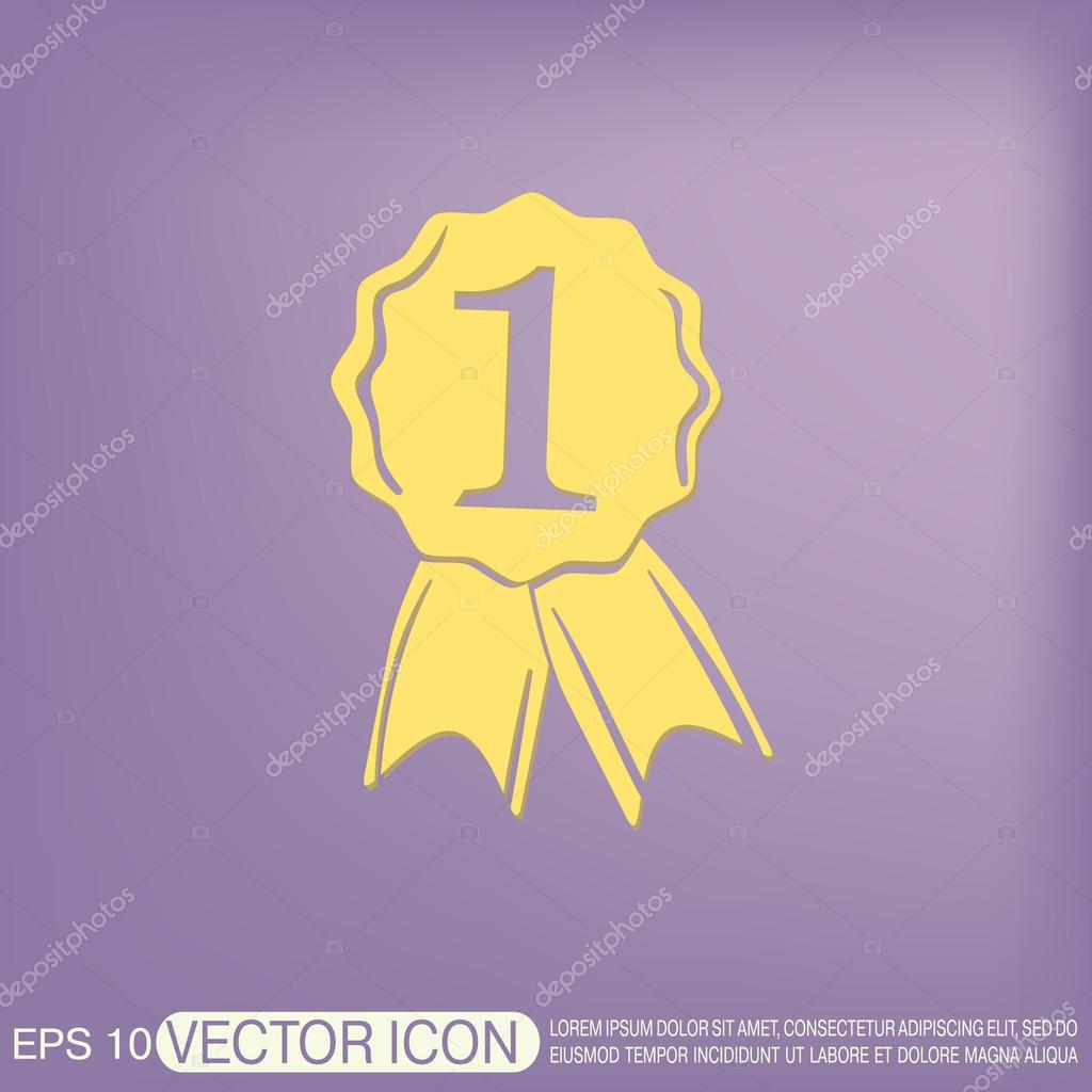 1024x1024 First Place Ribbon Rosette Icon Stock Vector Little Cuckoo