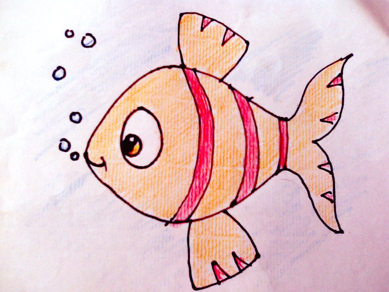1280x960 Drawing How To Draw Fish And Colour For Kids Art