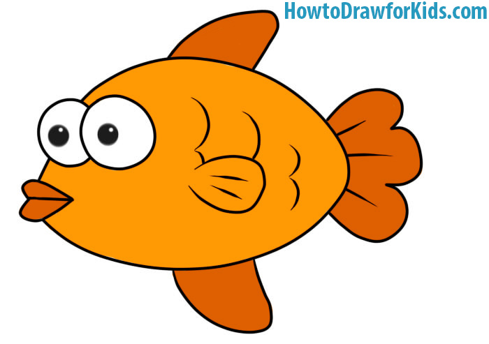 700x493 How to Draw a Fish for Kids HowtoDrawforKids