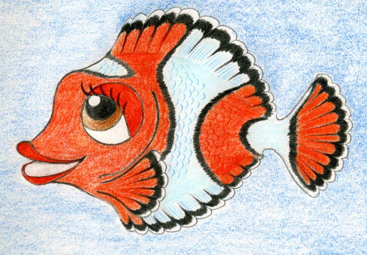 731x508 Original Cartoon Fish Drawing