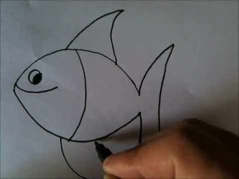 480x360 How To Draw Cartoon Fish