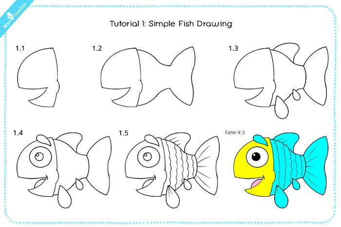 700x466 Fish Drawing Easy