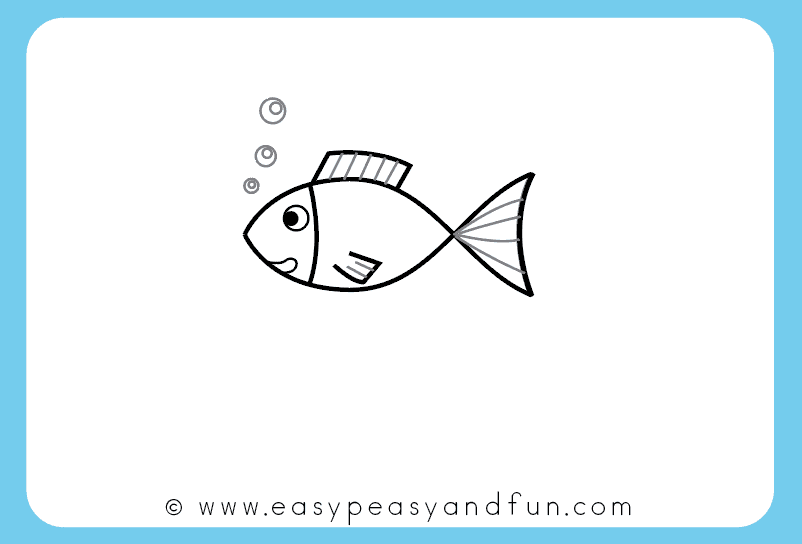 802x544 How To Draw A Fish Step By Step Tutorial For Kids + Printable