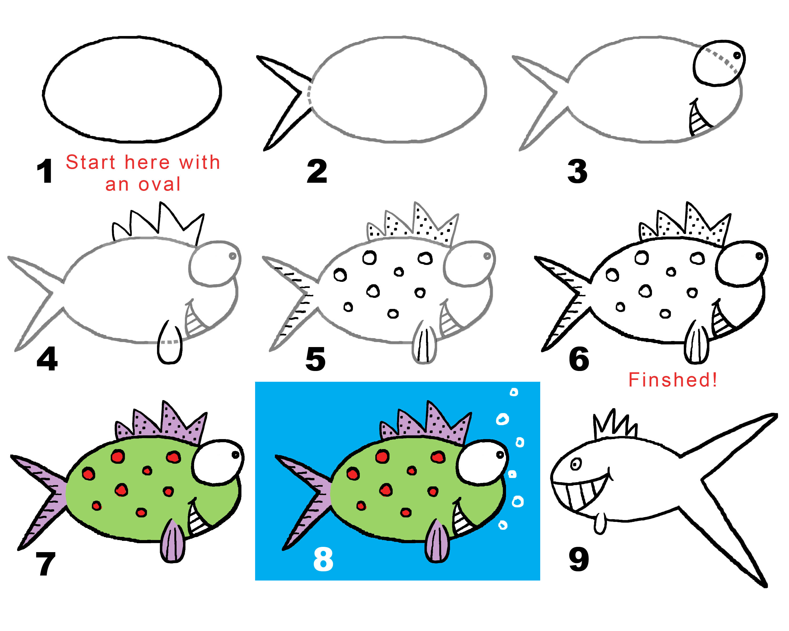 3000x2400 Fishy, Fishy! (Draw Your Own Conclusions) Draw With Rich