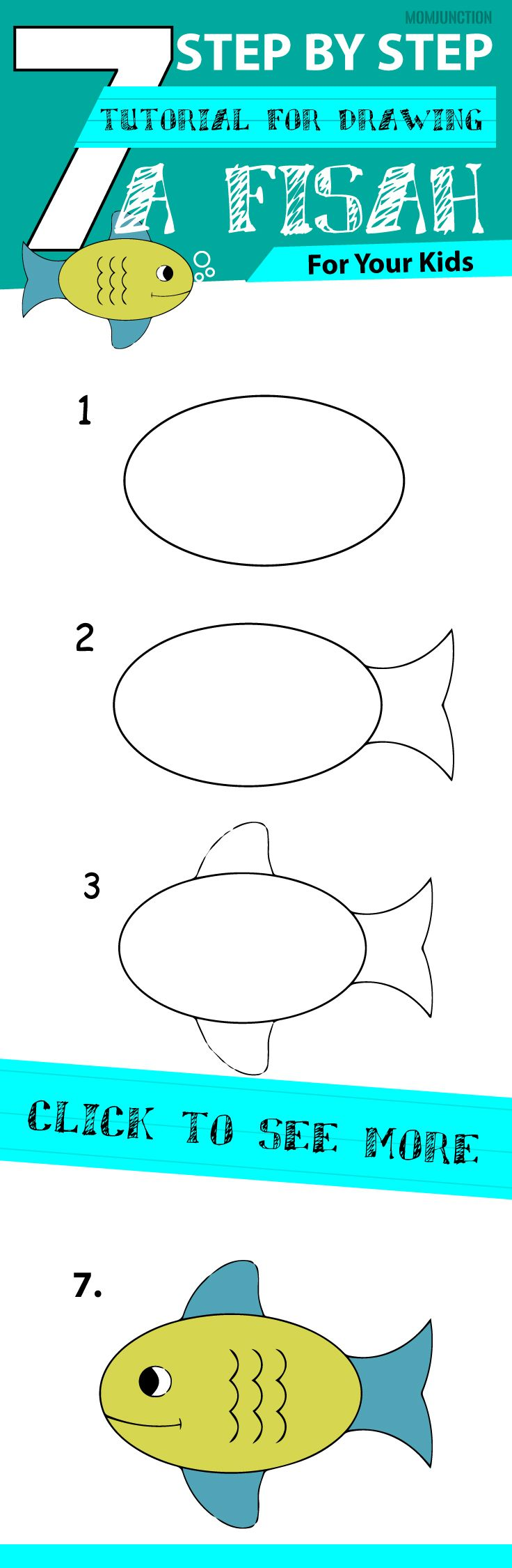 736x2250 How To Draw A Fish Step By Step For Kids Drawing Lessons, Kids