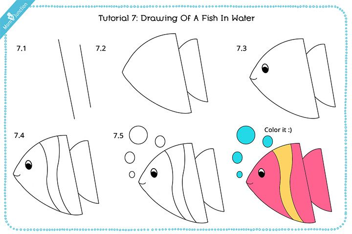 720x480 How To Draw A Fish Step By Step For Kids Fish And Drawings