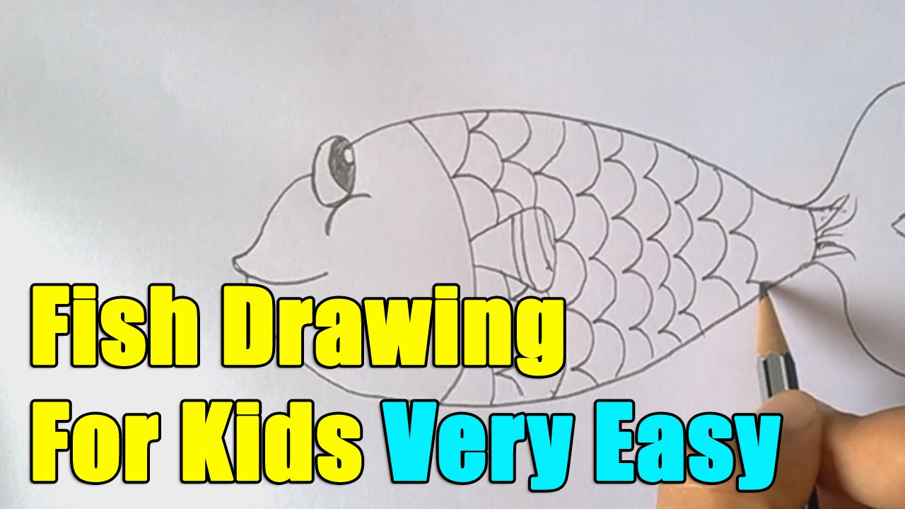 1280x720 How To Draw Fish Step By Step Easy