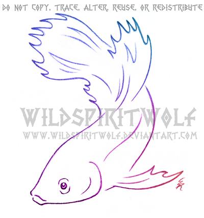 400x426 Luna Betta Fish Sketch Commission By Wildspiritwolf