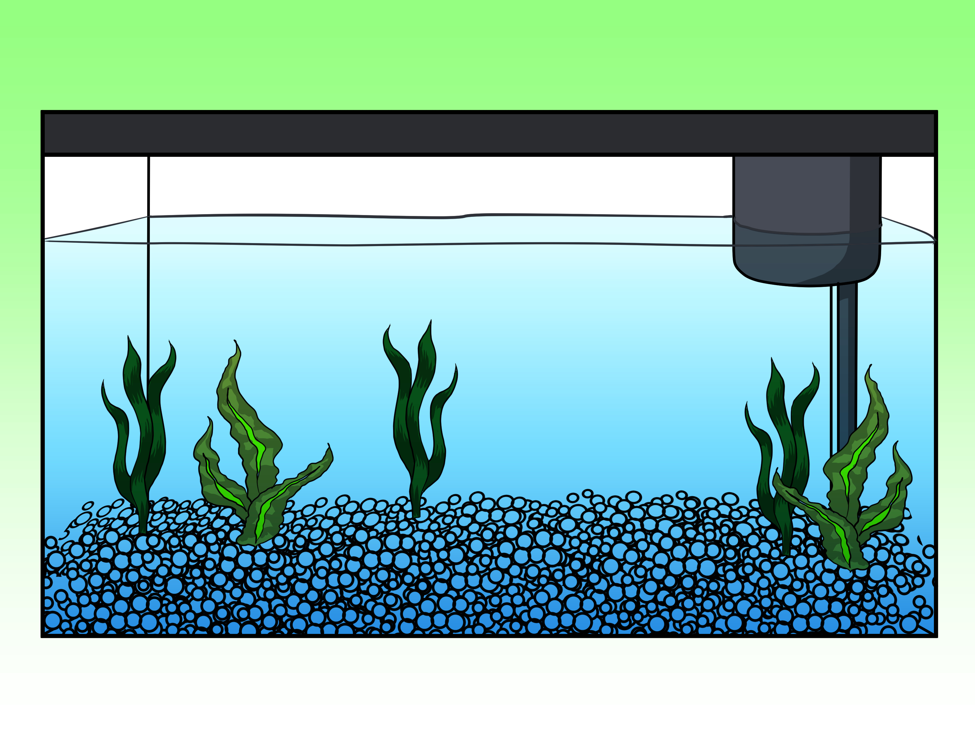 Fish tank drawing at free for personal for Fish scenery drawing