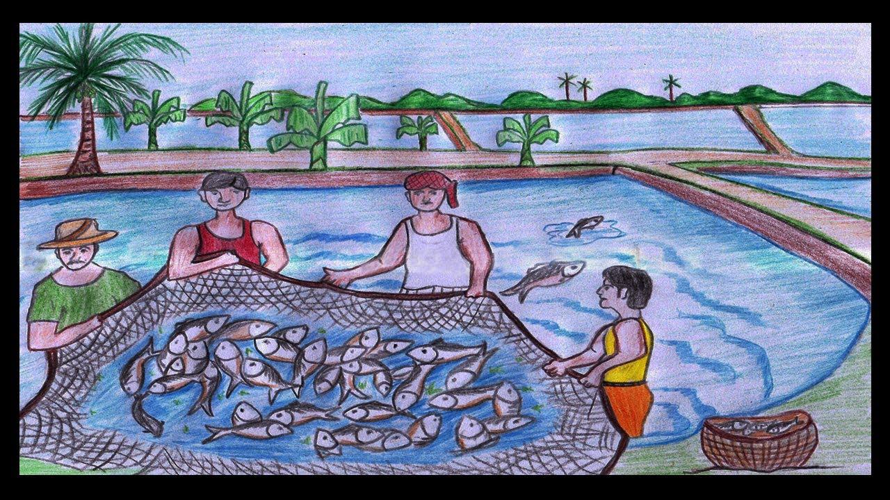 1280x720 How To Draw Fishermen Fishing (Catch Fish)