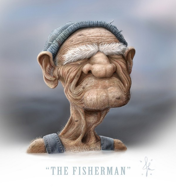 600x647 The Fisherman By Josh Miller Drawing Inspiration