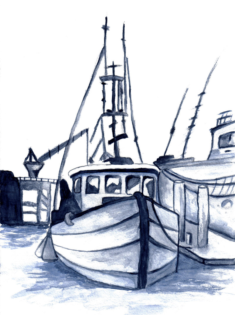 800x1069 Fishing Boat Sketch Image Gallery