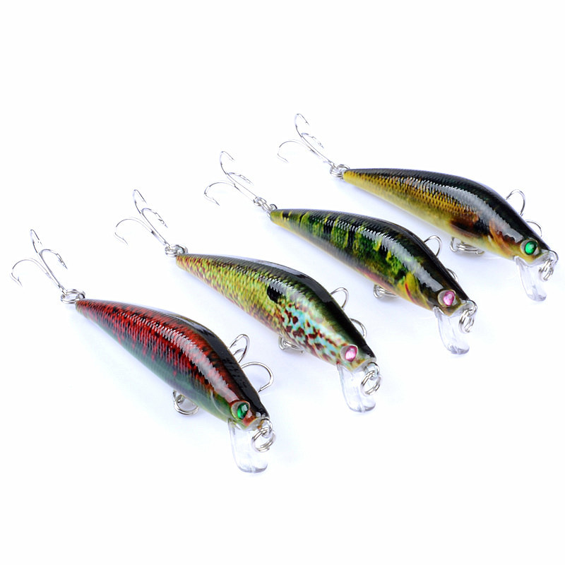 800x800 1pcs Coloured Drawing Pattern Lure 4 Color Plastic Hard Bait