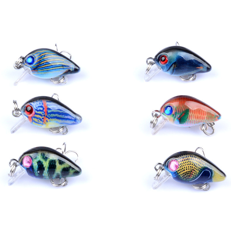 800x800 Lure Colored Drawing Pattern Little Fat Rock Fishing Lure 3cm