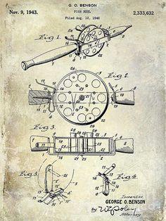 236x314 Patent Print, Fishing Reel Poster, Fishing Reel Patent, Fishing