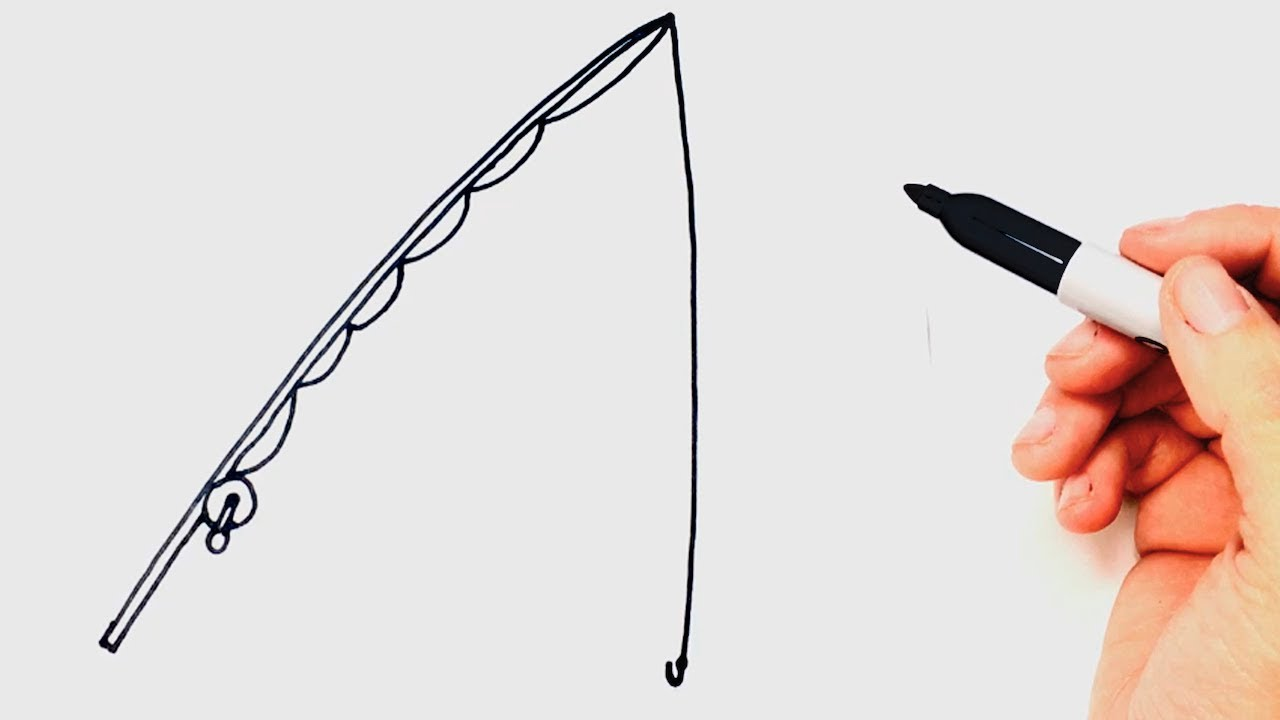 1280x720 How To Draw A Fishing Rod Step By Step Easy Drawings