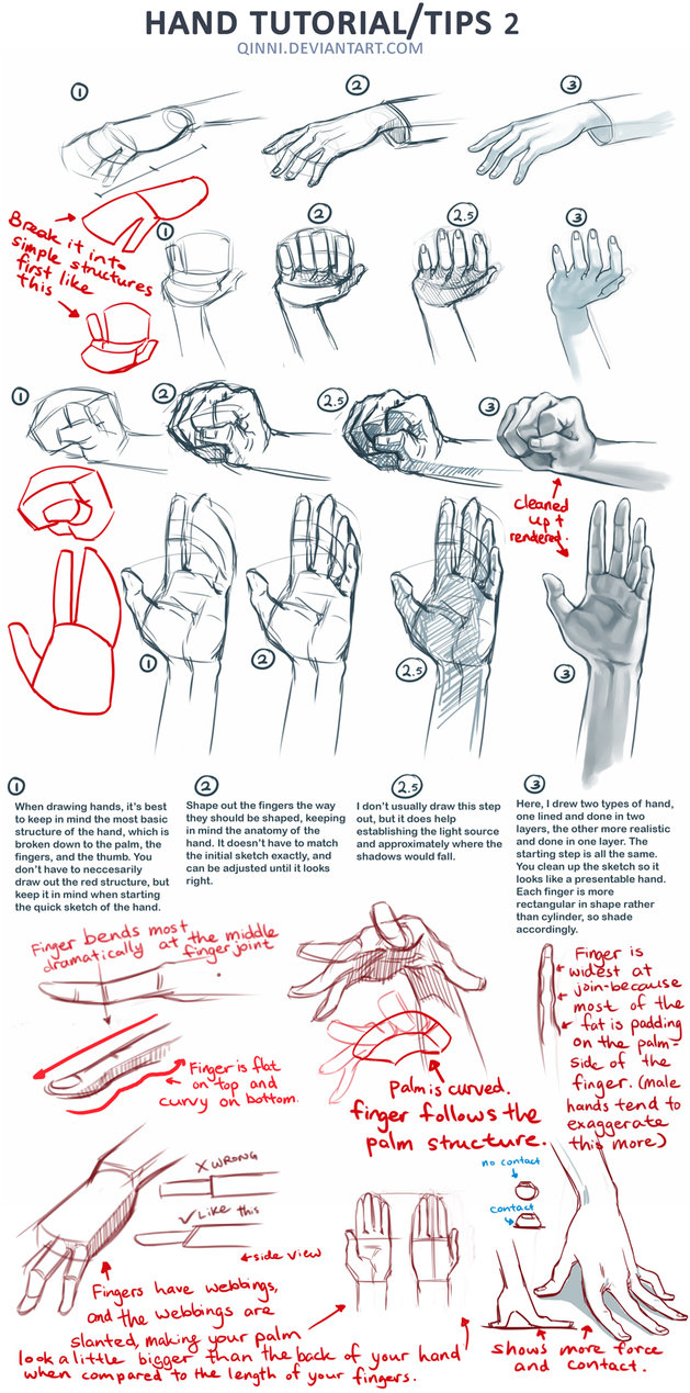 629x1269 Hand Tutorial 2 By Qinni