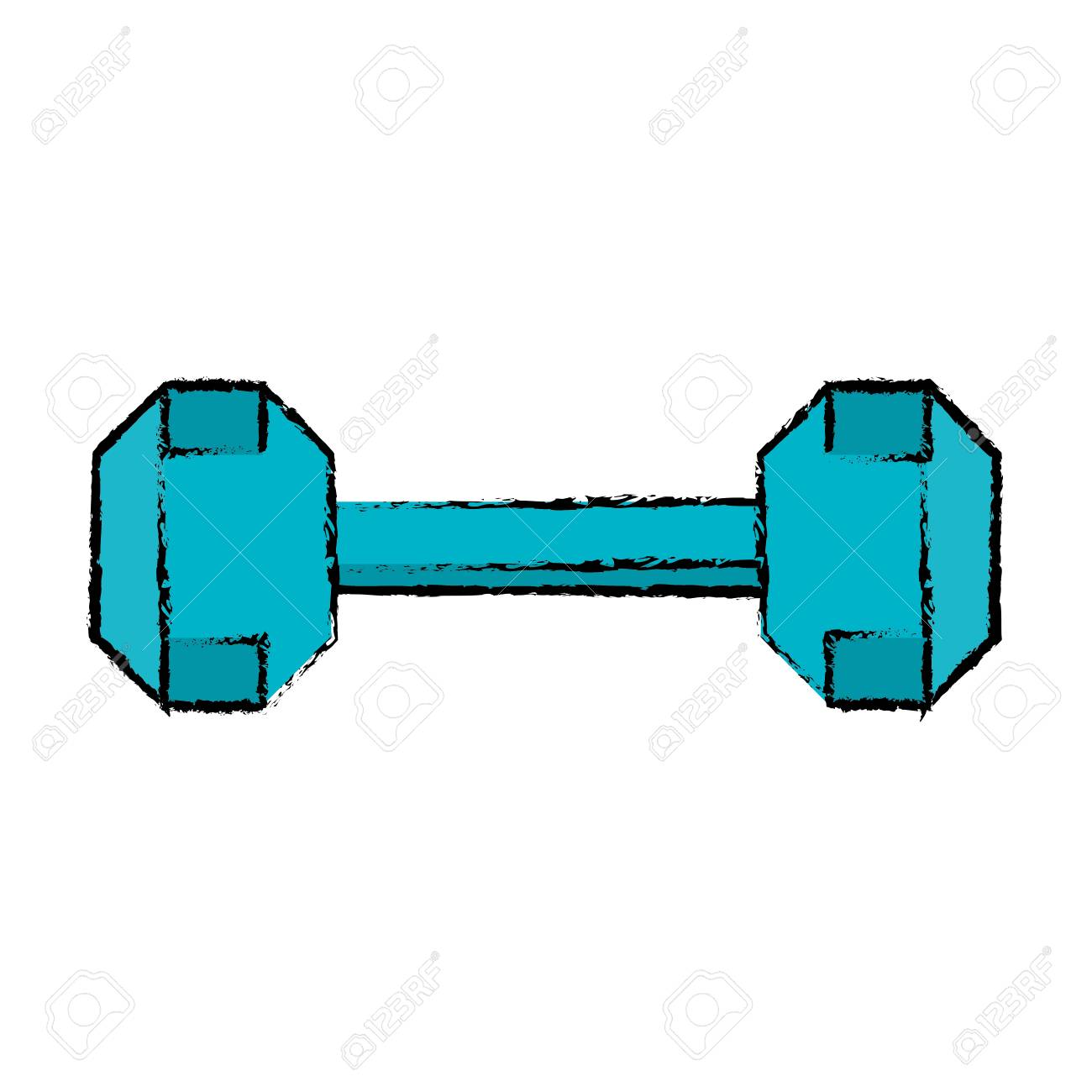 1300x1300 Drawing Dumbbell Weight Fitness Gym Icon Vector Illustration