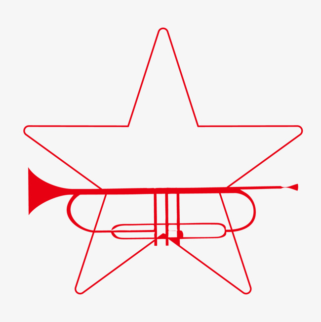 650x651 Red Line Drawing Outline Five Pointed Star, Red, Five Pointed Star