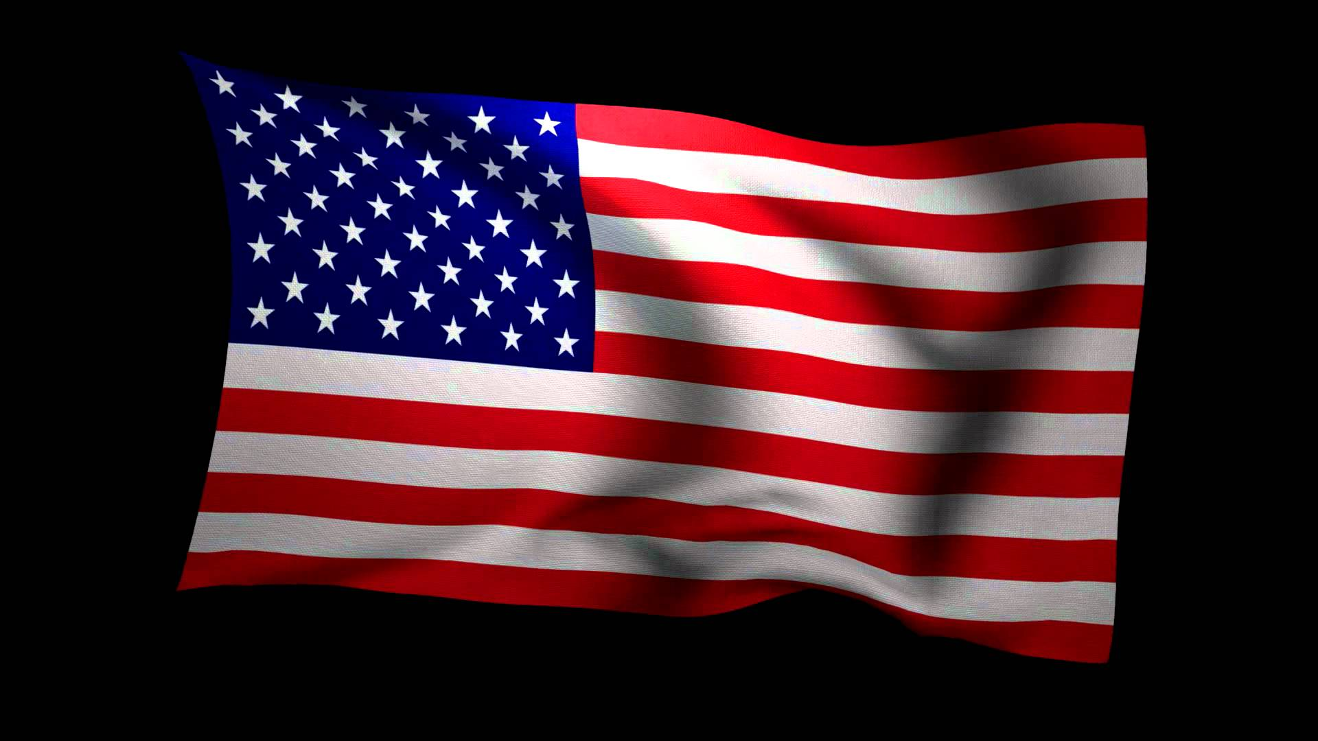3fbcd31845bf 1920x1080 3d Rendering Of The Flag Of The United States Waving In The Wind