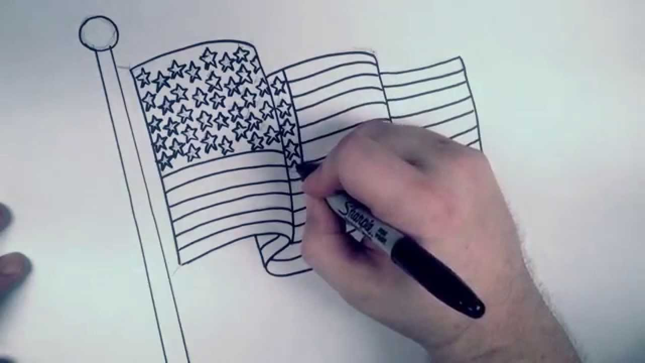 1280x720 How To Draw An American Flag Rbh