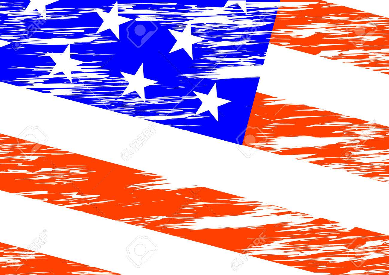 1300x919 Drawing An American Flag In Wind Royalty Free Cliparts, Vectors