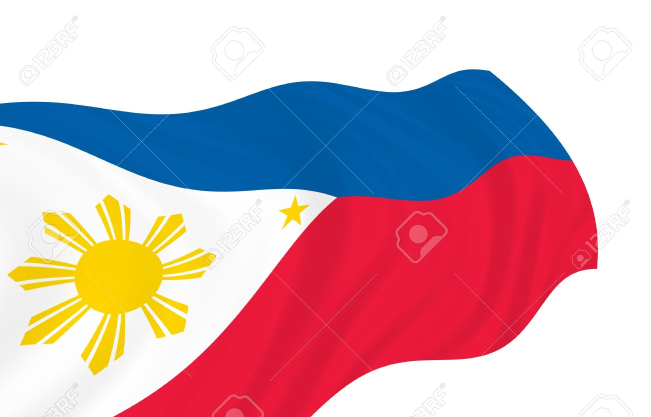1300x834 Illustration Of Philippines Flag Waving In The Wind Stock Photo
