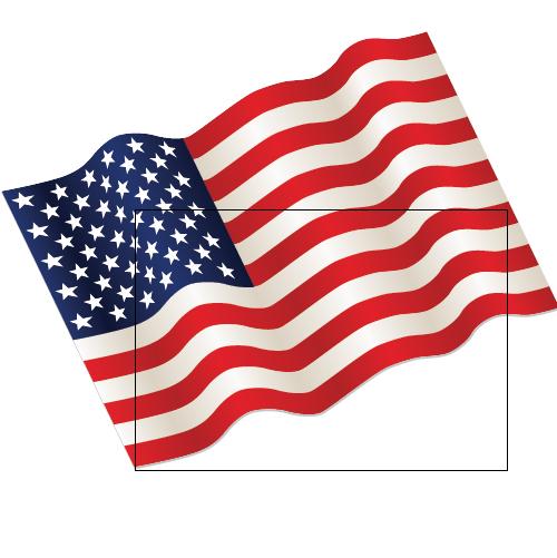 500x501 Illustrator Tutorial Waving Flag Of The Usa