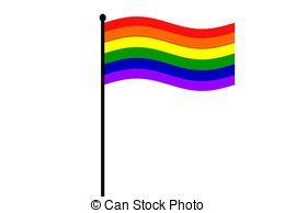 270x194 Rainbow Flag Waving In The Wind Drawing