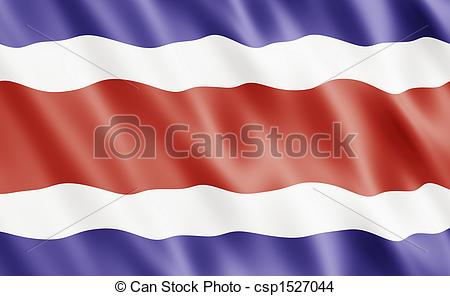 450x296 Republic Of Costa Rica Flag Blowing In Wind Drawing