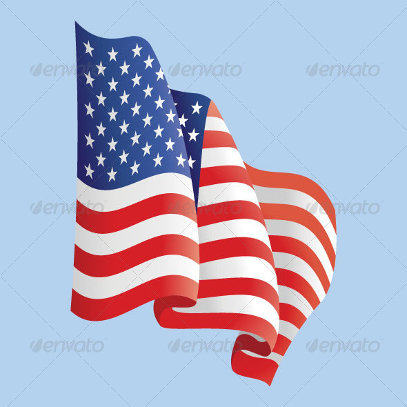 590x590 Waving American Flag By Dxc Graphicriver