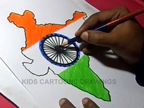 480x360 How To Draw Indian Flag Detailed Color Drawing Step By Step