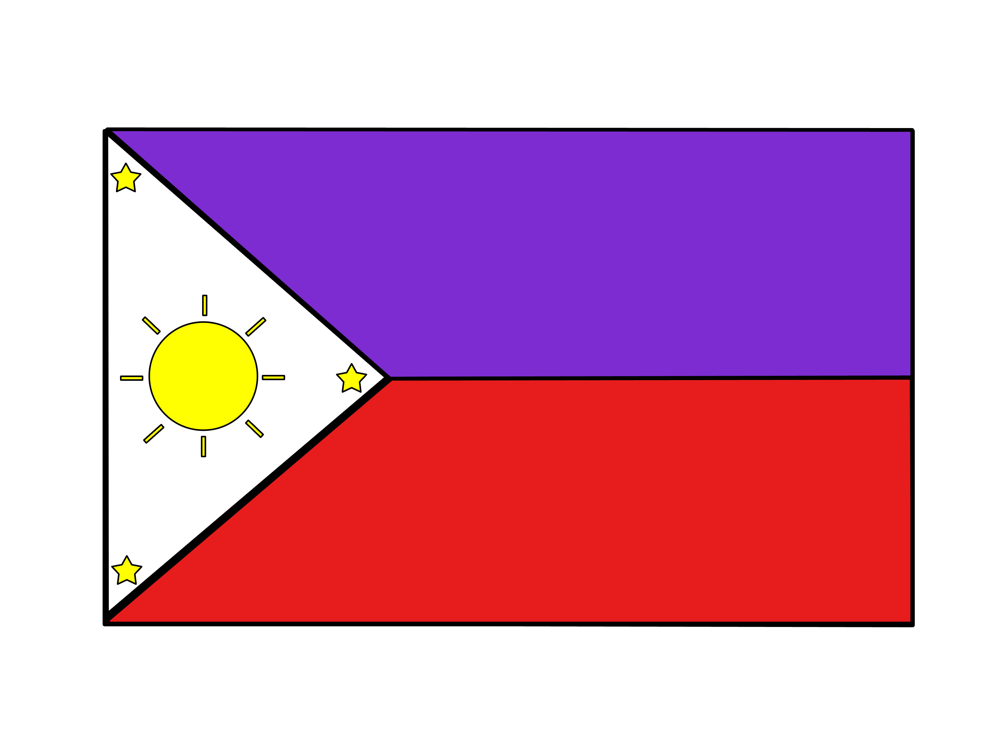 3200x2400 Drawing Of Philippine Flag How To Draw The Flag Of The Philippines