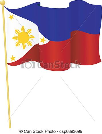 356x470 Flag Of Philippines. Vector. Vector Illustration Of Flag Of Eps