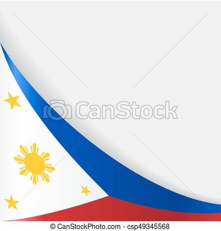 448x470 Philippines Flag Background. Vector Illustration . Clip Art