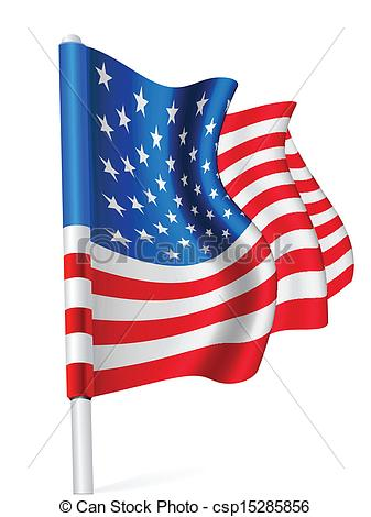 337x470 Flag Of The Usa The Flag Pole Waving In The Wind Over White