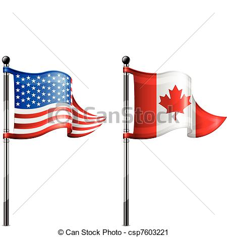 450x470 Usa Amp Canada Flags. Two Little Usa Amp Canada Triangle Flag