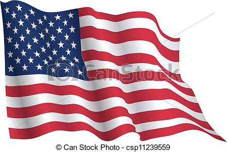 450x302 Usa Flag Waving Realistic Clipart Vector