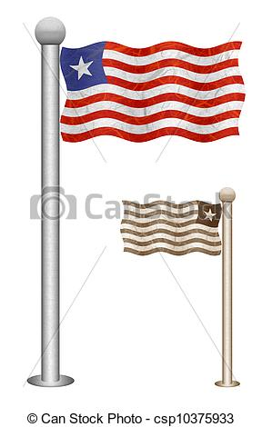288x470 Flag Pole Recycled Paper Liberia Flag Waving On The Wind